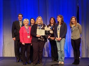 Mary Ann Calderone winner of the 2019 Data Quality Network Data Governance Award of Excellence